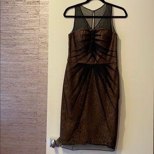Chetta B Gold/Black Dress Size 6